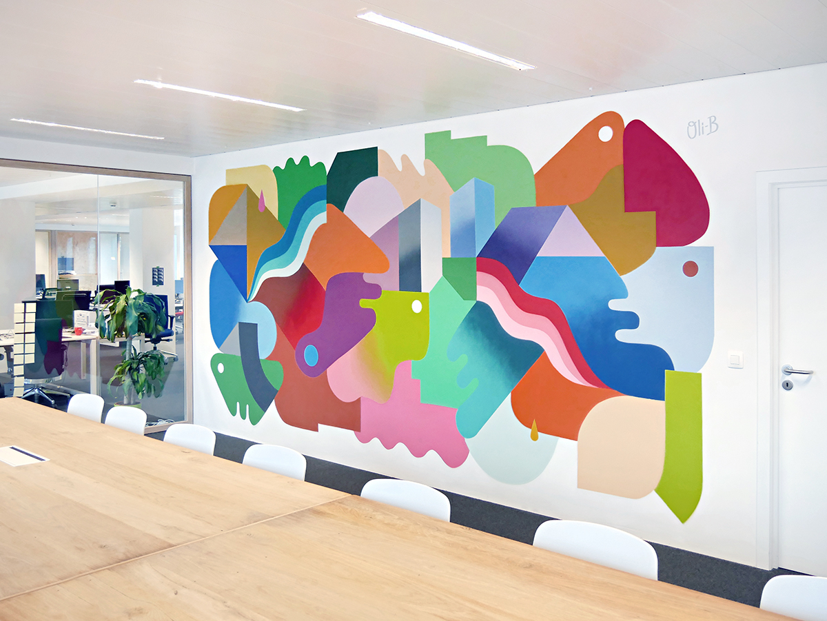 Mural Painting N 2 At Adneom Brussels Oli B