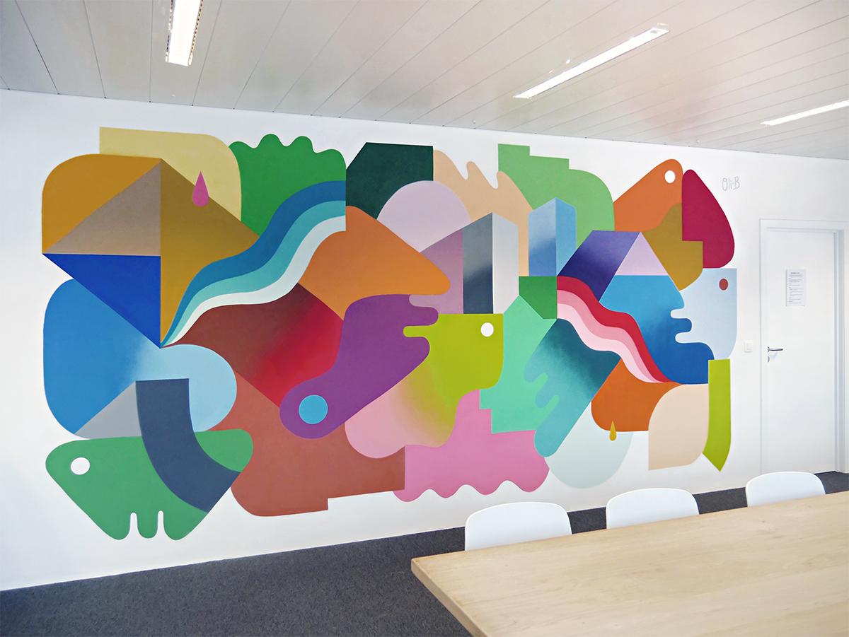Mural Painting N 2 At Adneom Brussels Oli B